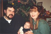 Jenn, Andy, and J.R. - Christmas 2001