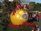 Huge Christmas ornament near the main entrance