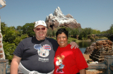 At Expedition Everest - (great roller coaster - even BACKWARDS!