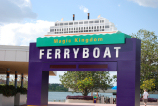 Ferryboat terminal option to travel to the Magic Kingdom