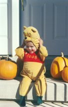 Connor as Pooh #1 - Halloween 1999