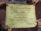 Pirate Tutorial diploma from Captain Jack Sparrow