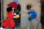 Rich battling Captain Hook