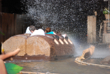 Splash Mountain geyser drenches another group of unsuspecting travelers