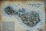 Map of Tom Sawyer Island