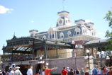 Disneyworld train station on Main Street