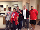 Jail tour with Ute football stars Jon White (Wolfman), John Hays, and Steve Fifita - 11-29-12